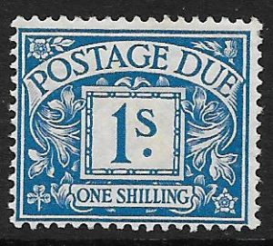 1914 D8  I/- Bright Blue  George V Simple Cypher Postage Due  MOUNTED Mint